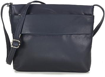 3a948ba0c4d67 Taschenloft Kleine Umhängetasche Leder für Damen Handtasche Crossbody Bag  Dunkelblau Blau Navy