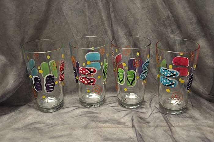 416e9d56b60f Image Unavailable. Image not available for. Color  Glass Flip flop drinking  ...