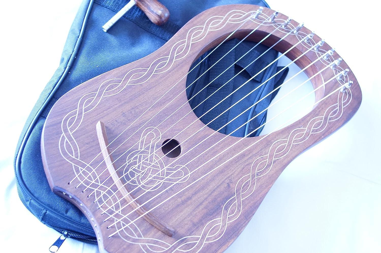 Rosewood Lyra Lira (Arpa Harfe con funda y llave de afinación TAALI MUSIC
