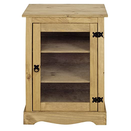 Mews Corona HiFi Cabinet / Unit, Mexican Pine: Amazon.co.uk ...