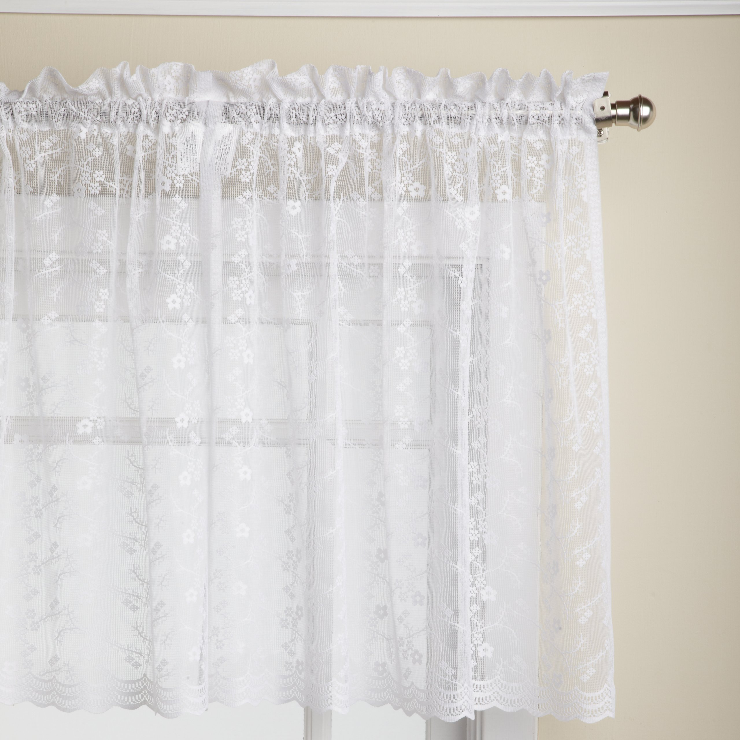 Linen Lorraine Home Fashions: Sheer Cafe Curtains: Amazon.com