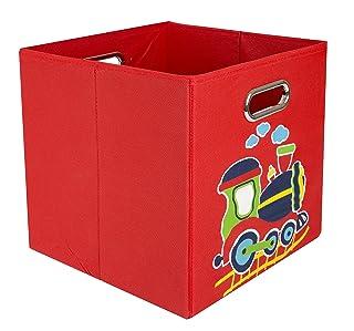 nuby Folding Storage Bin, Red Train
