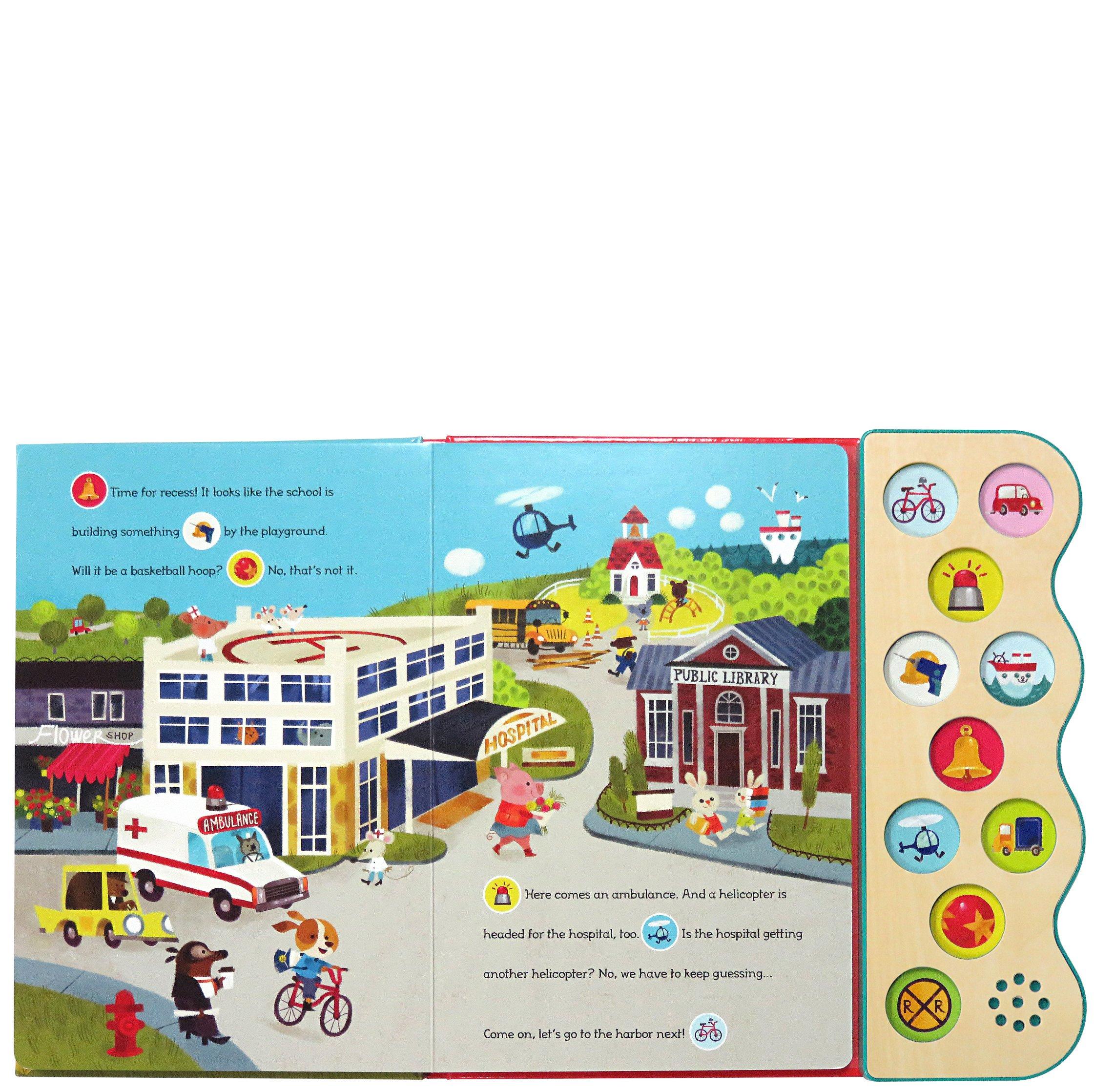 Busy Noisy Town: Interactive Children's Sound Book (10 Button Sound)