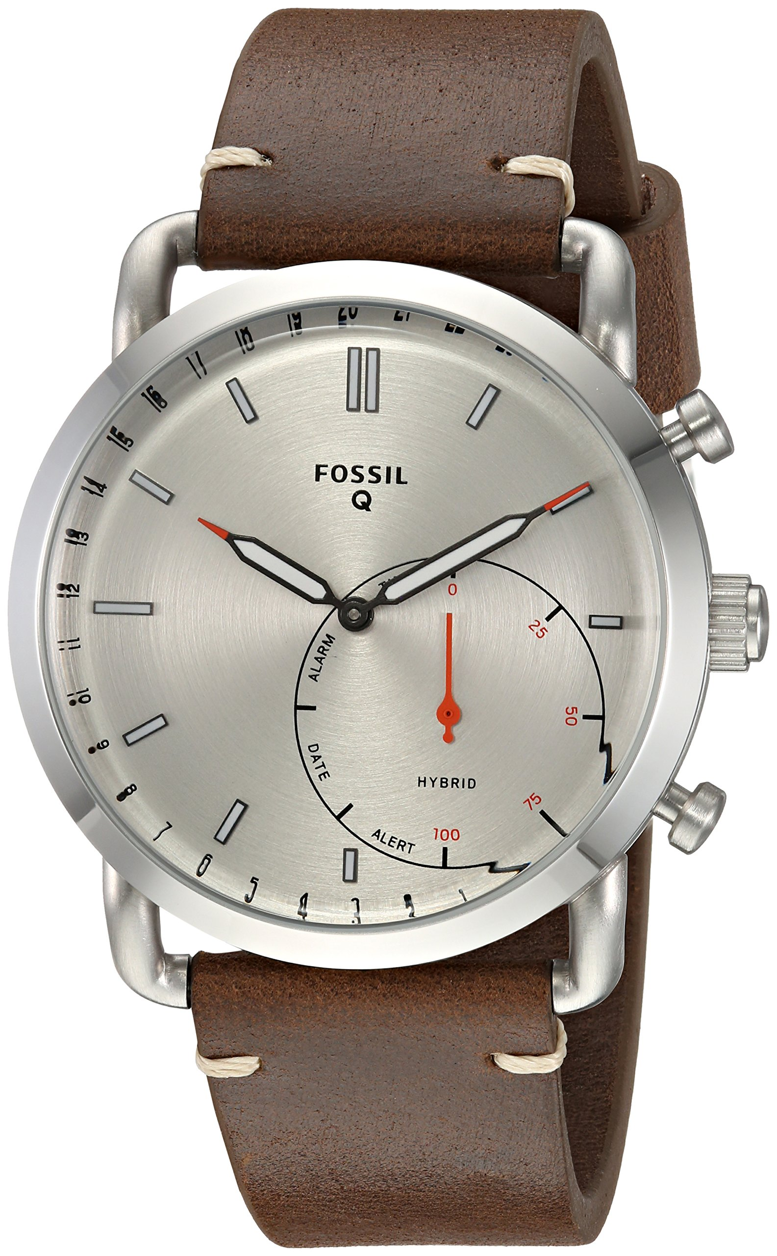 Fossil Hybrid Smartwatch - Q Commuter Dark Brown Leather FTW1150 by Fossil