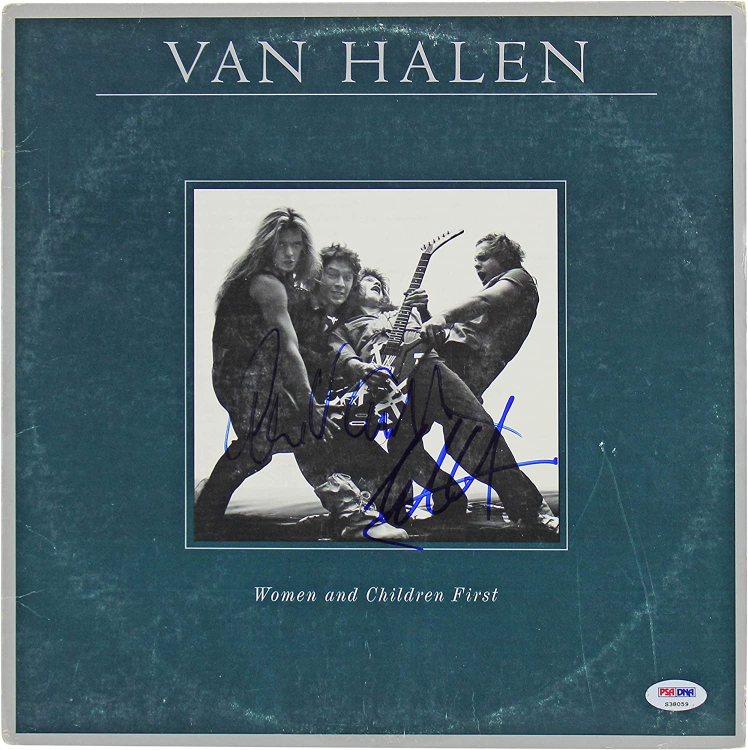 Amazon Com Eddie Van Halen Alex Van Halen Signed Album Cover W Vinyl Psa Dna S38059 Entertainment Collectibles