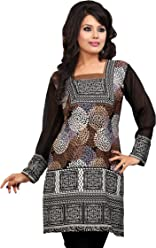 Women Fashion Casual Short Indian Kurti Tunic Kurta Top Shirt Dress 42C