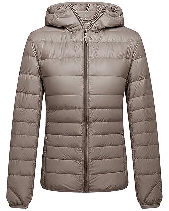 202d5d823 Amazon.com  ZSHOW Women s Packable Hooded Lightweight Down Jackets ...