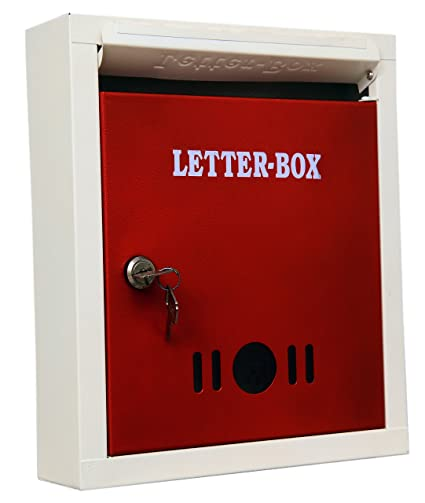 Lepose Sai Metal Letter Box Red
