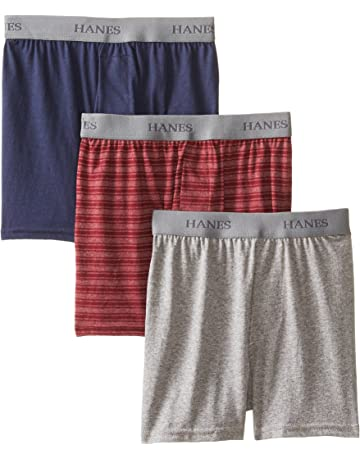 8bcbc4870a79 Hanes Big Boys' Knit Boxer With Exposed Waistband(Pack ...