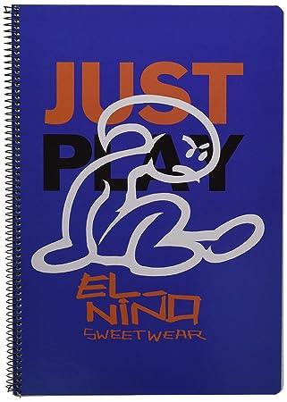 El Niño-El Libreta Folio 80 Hojas Tapas duras, Color Azul ...