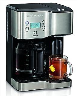 Amazon Com Hamilton Beach 49980z 2 Way Brewer 12 Cup Single Serve Brewing Machines Kitchen Dining