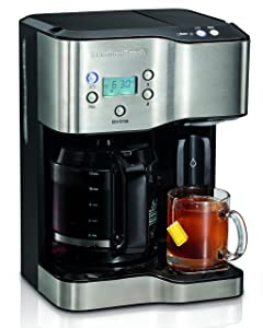 Hamilton Beach 49982 Programmable Coffee Maker & Hot Water Dispenser 2-Way Black and Stainless