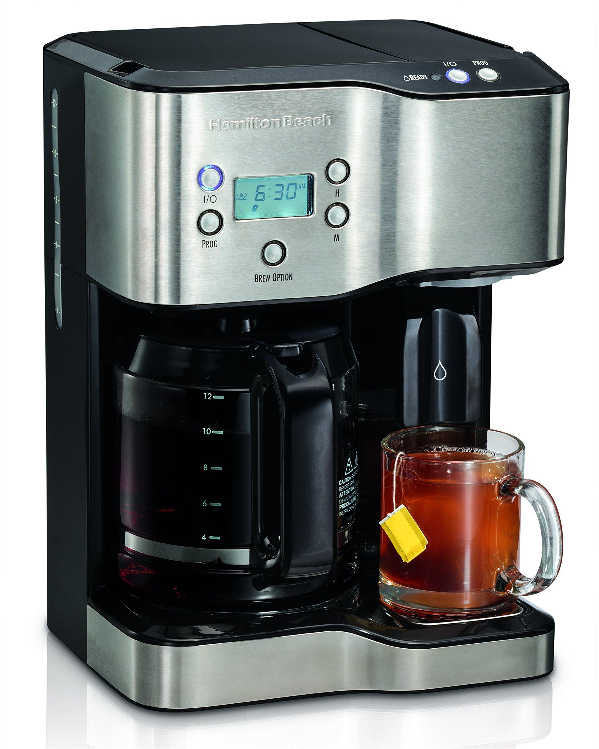 Hamilton Beach 49982 Coffee Maker & Hot Water Dispenser, Black