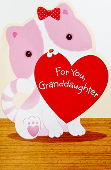 Amazoncom Granddaughter A Valentine Wish Full Of Love For You