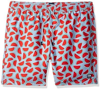 9ecf24248c057 Tom & Teddy Men's Watermelon Swim Trunks | Amazon.com