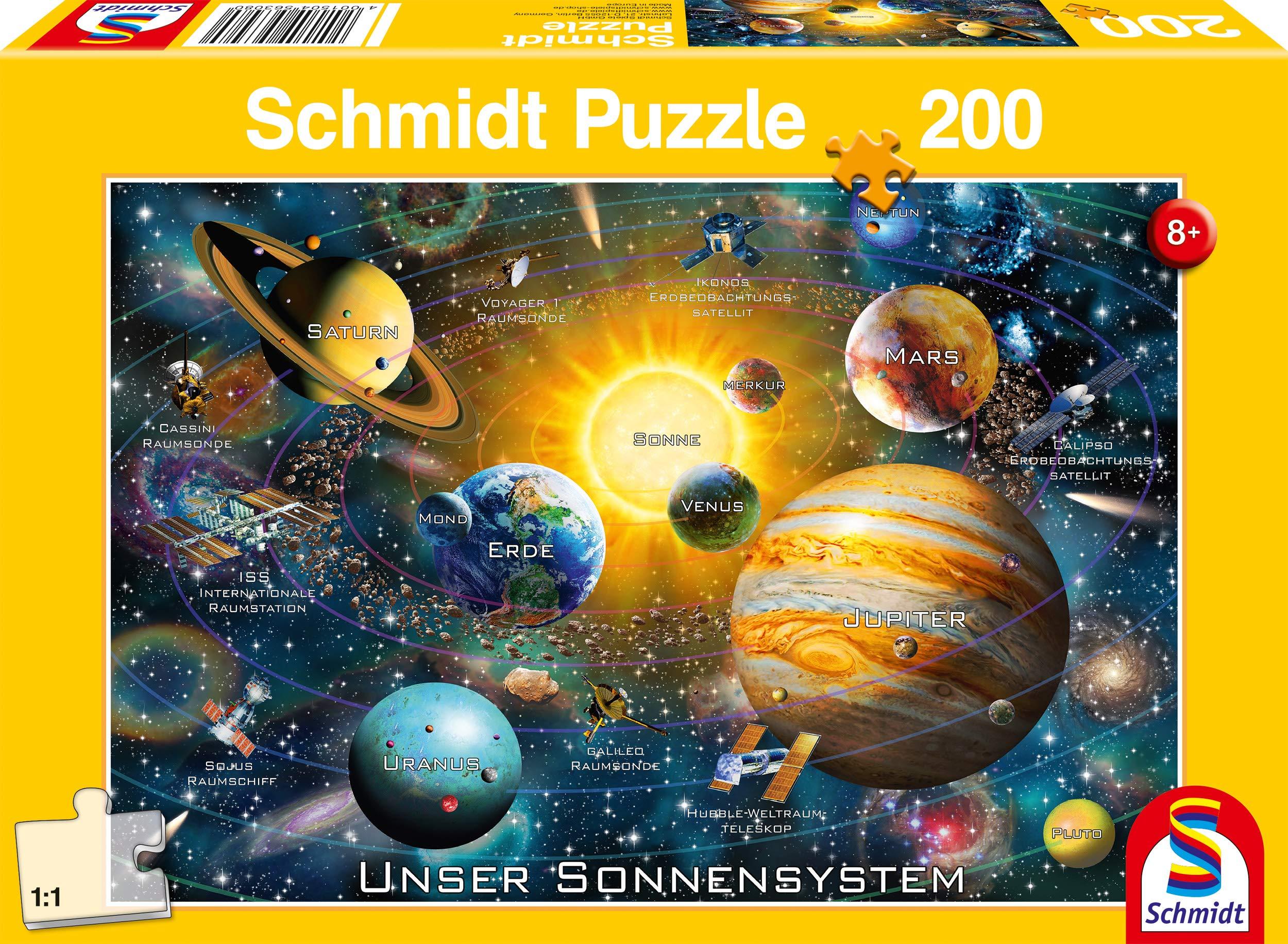 Schmidt Spiele 56308 Our Solar System, 200 Pieces Children's Puzzle, Colourful