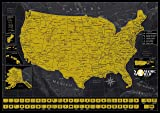 USA Scratch Off Map - Very Detailed - Scratch Off