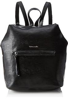 BABETTE Damen Handtasche, Backpack, Rucksack, 30x20x13 cm (B x H x T), 4 Farben: black, blue, vino oder black comb, Farbe:schwarz Tamaris