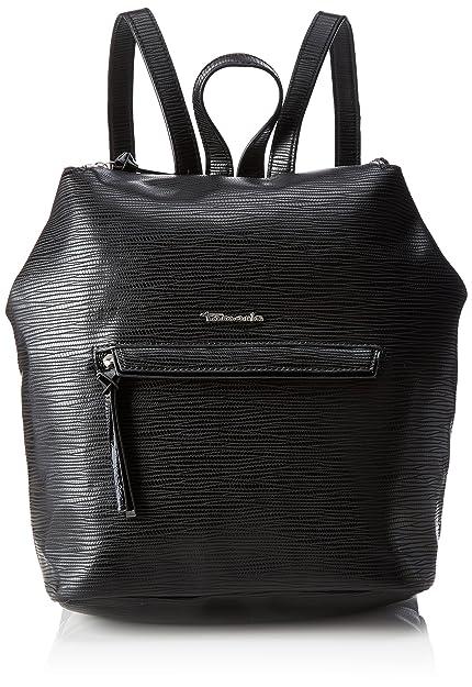 Babette Backpack, Womens Backpack Handbag, Schwarz (Black Comb.), 7x30x34 cm (B x H T) Tamaris