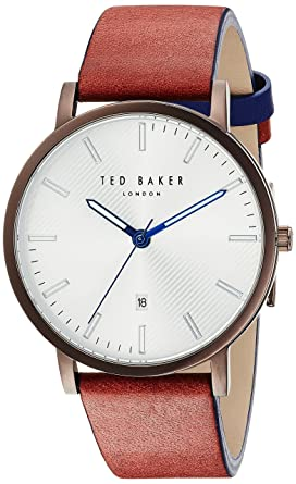 b284e46b618cf6 Amazon.com  Ted Baker Men s Dean Stainless Steel Quartz Watch with ...