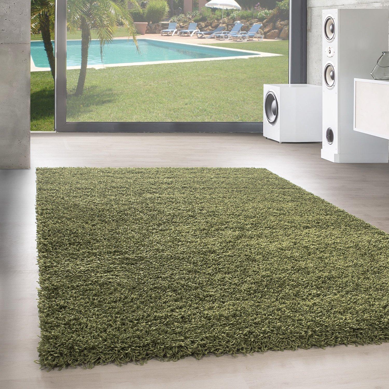 Unbekannt Shaggy Hochflor Langflor Teppich Wohnzimmer Carpet Uni Farben, Rechteck, Rund, Farbe Anthrazit, Größe 200x200 cm Quadrat B06XTWNF2T Teppiche