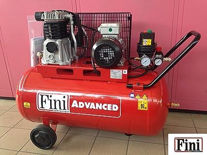 Compresor Aire finas remolque a correa 100 (90) L 2 HP 1,5