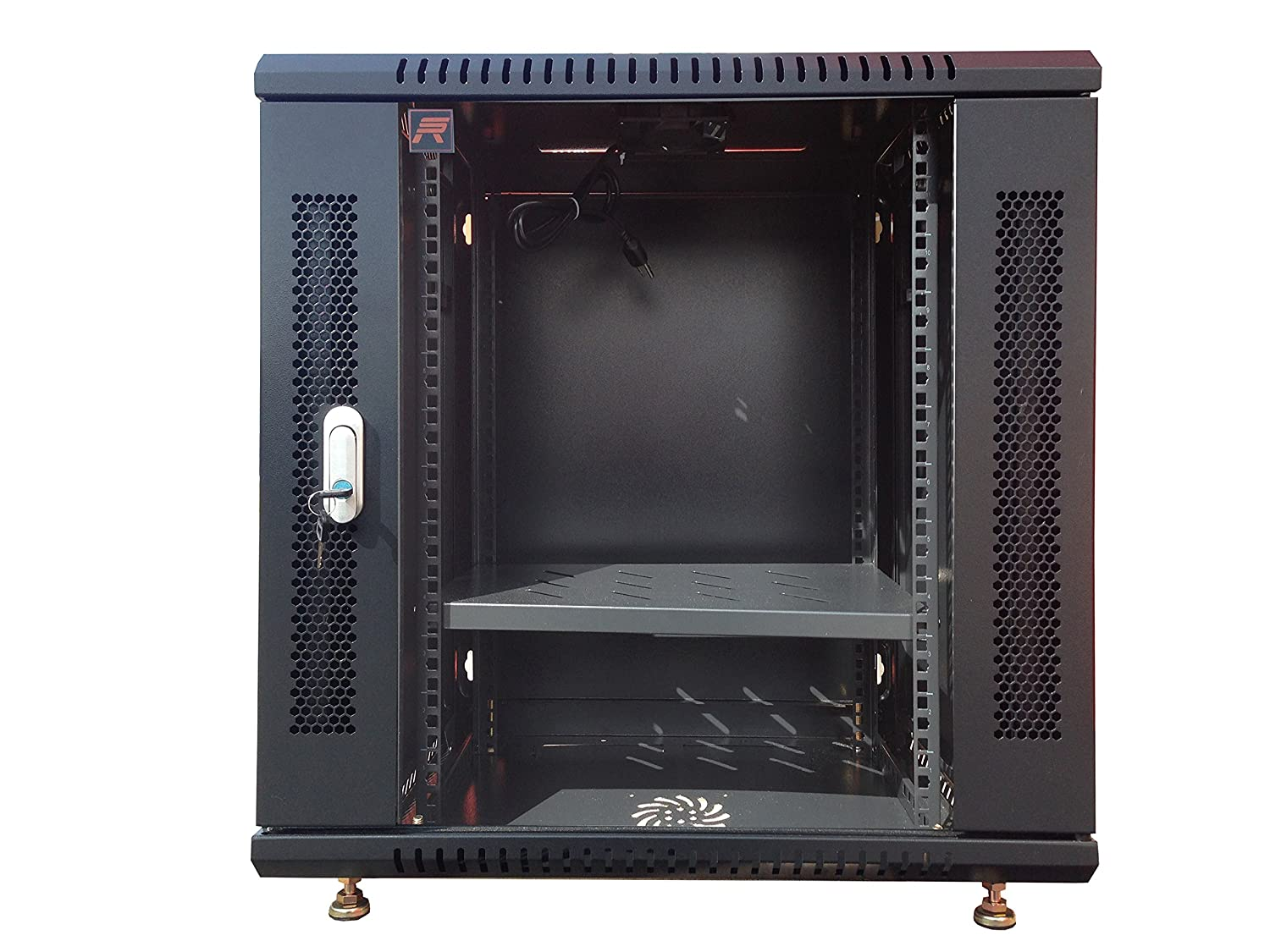 9U Server Rack Cabinet Enclosure. Accessories Free! Vented Shelf, Cooling Fan,Hardware. Wall Mount 18' Deep Fully Loaded Lockable Enclosure Box Hardware. Wall Mount 18 Deep Fully Loaded Lockable Enclosure Box Sysracks