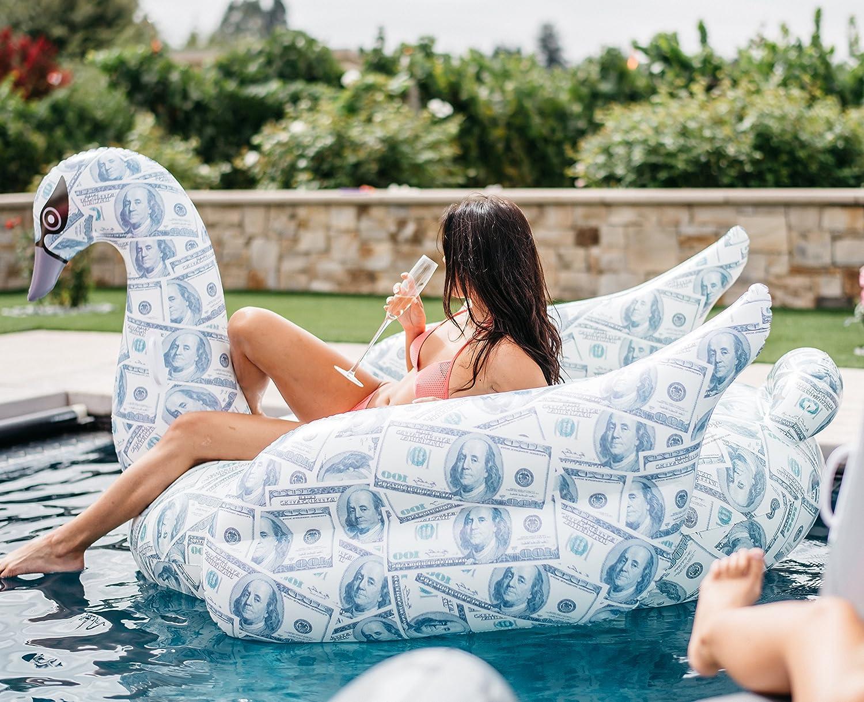 Mimosa Inc Billionaire Swan Inflatable Premium Quality Giant Size Pool Float 50M0100004
