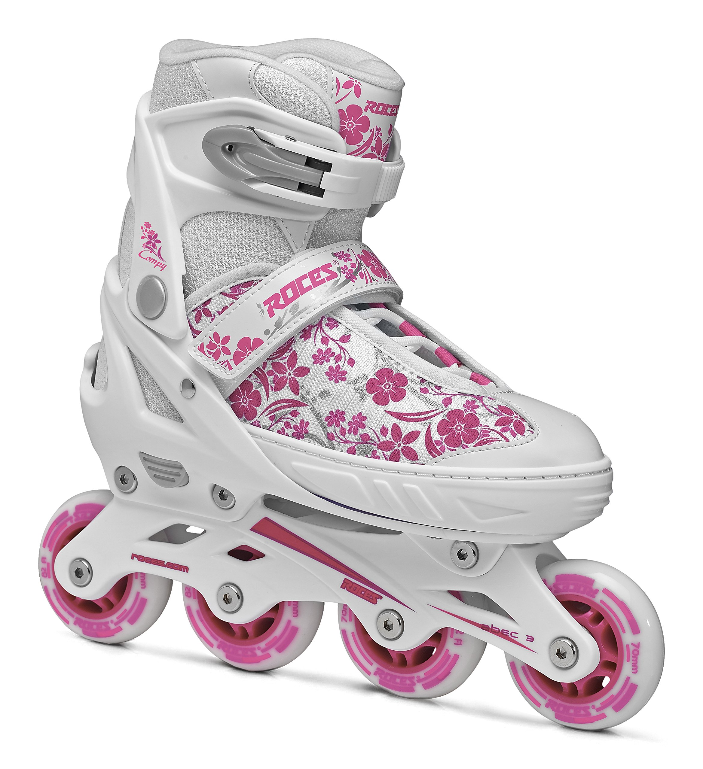 Roces 400809 Women's Model Compy 8.0 Adjustable Inline Skate, US 13jr-2, White/Violet