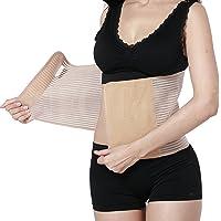 Cinturón de apoyo posparto - Ceñidor/corsé de maternidad post, Banda para el Vientre/Barriga/Cintura y apoyo para la espalda - Transpirable y elástico - Marca Neotech Care (Negro, M)