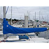 """Mainsail Cover for Generic Sailboat, 10'-3"""" Long Pacific Blue"""