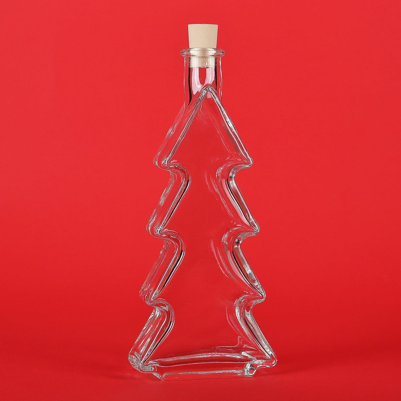 Christmas Liquor.5 Empty Glass Bottles 200 Ml Bottle Fir Christmas Tree