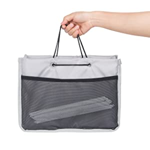 PACMAXI Drink Carrier for Delivery and Food Delivery Bag, Drink Holder for Take Out Office, Picnic, Beach and Outdoor Activities, Waterproof Carrying Cup Carrier Tote and Drink Carrier with Removeable (Interior Divider, Grey)