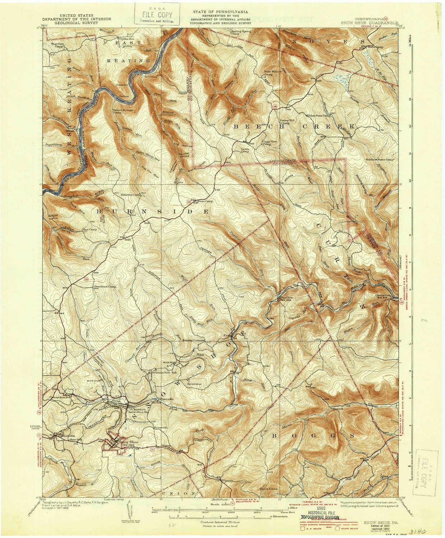 Amazon Com Yellowmaps Snow Shoe Pa Topo Map 1 62500 Scale 15 X 15