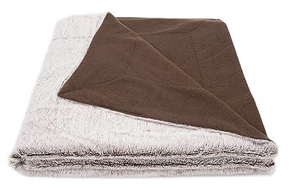ZOLLNER Manta Grande para sofá imitación Piel, 150x200 cm, Reversible y Suave, también