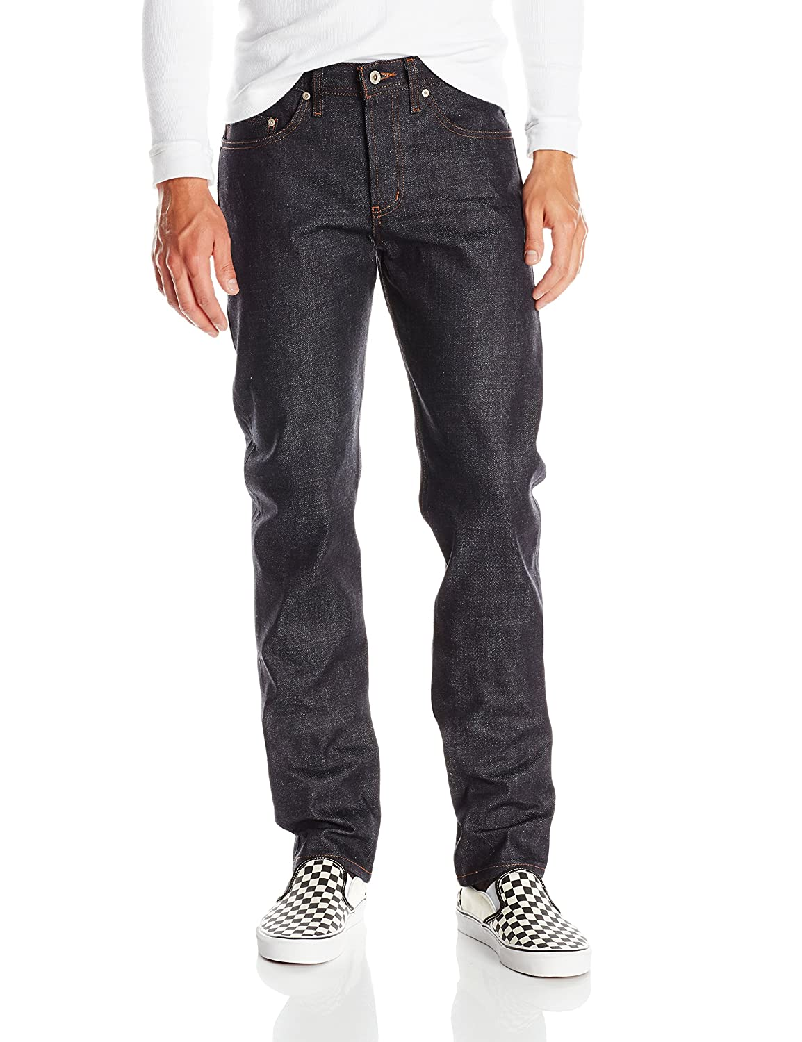 Naked & Famous Denim Men's Weird Guy Deep Indigo Rigid Selvedge Jean Naked & Famous Denim Mens 015553