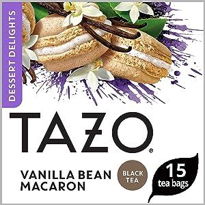 Tazo Filterbag Tea, Vanilla Bean Macaron, 15 Ct Pack of 6 (Packaging may vary)