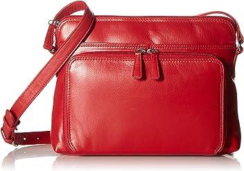 5b2832d9e9ea ili New York 6333 Leather Shoulder Handbag with Side Organizer