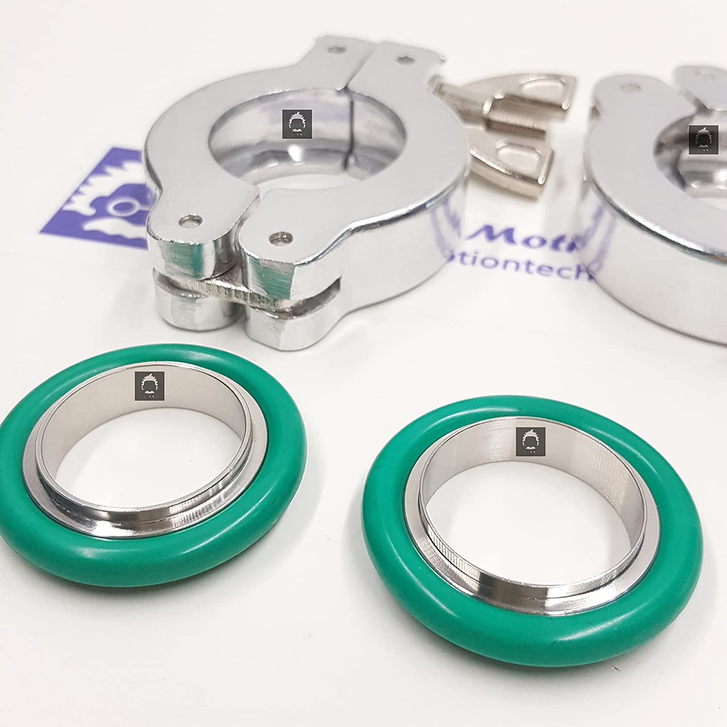 Fkm Viton Bmt Lot Of 2 Sets Kf 25 Aluminium Wing Nut Flange Clamp Kf25 Stainless Steel 304 Centering Ring Green O Ring Quick Connect Hose Fittings
