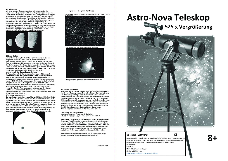 Spiegelteleskop reflektorteleskop astro nova mm teleskop