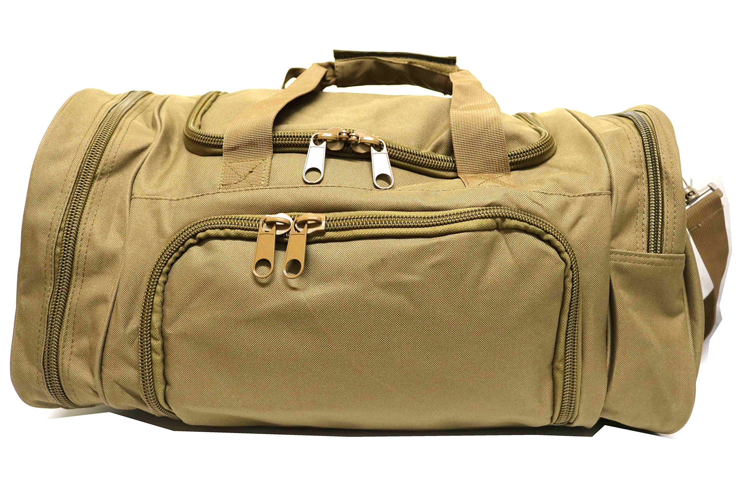 WolfWarriorX Military Tactical Duffle Bag, Large Storage Bag Luggage Duffle for Traveling, Gym, Vacation, Hiking & Trekking (Tan)