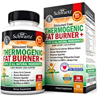 Thermogenic Fat Burner for Women & Men - 4 Way Weight Loss Support - Stimulant Free with All Natural Ingredients- Promotes Fat Burn & Appetite Reduction- Metabolism Booster - with Chromium - 60 Ct