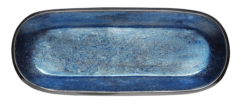 Pack of 6 724190543108 Color Melange Home Decor Rectangle Tray Platter 14-inch Bowl Light Gray
