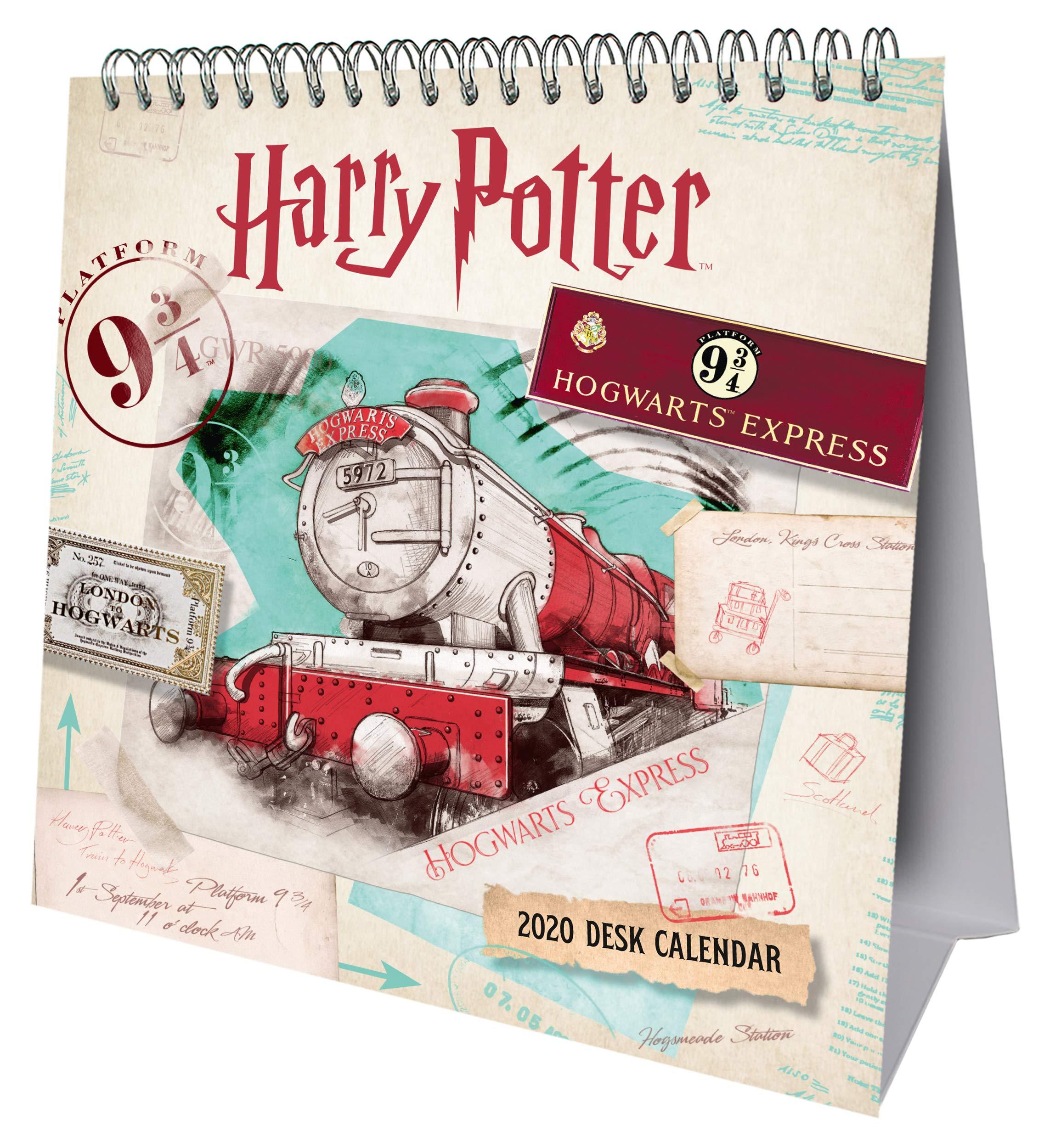 Harry Potter 2020 Desk Easel Calendar   Official Desk Easel With Removable Postcards  2020 Calendar