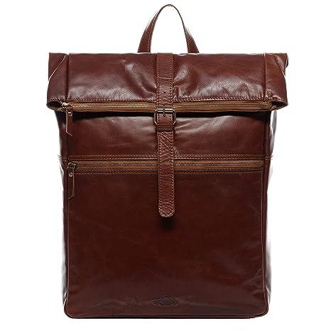 SID & VAIN® Zaino vera pelle LEVI Zip grande XXL borsa a spalla 15 polliciborsa a zainetto backpack 15,6