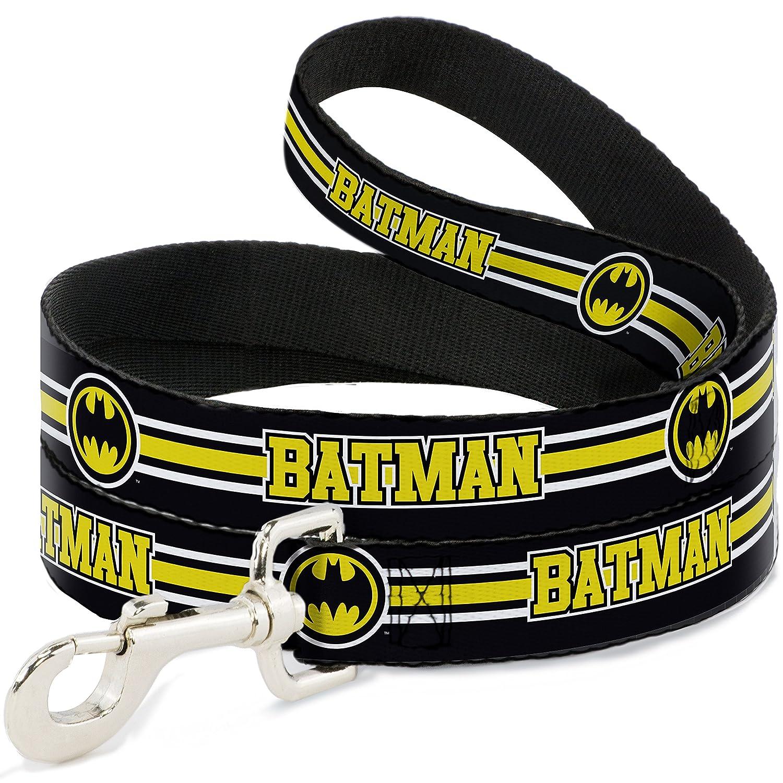 Batman Bat Signal Triple Stripe Black White Yellow 4' Batman Bat Signal Triple Stripe Black White Yellow 4' Buckle-Down DL-WBM176 Dog Leash, Batman Bat Signal Triple Stripe Black White Yellow, 4'