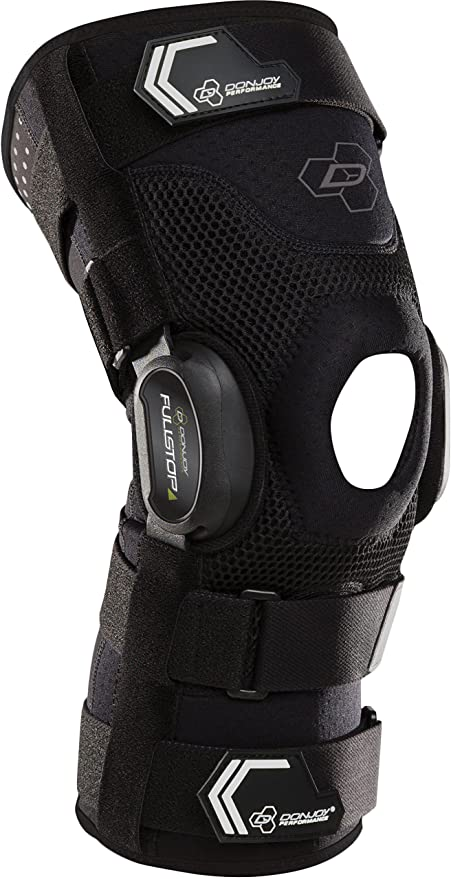540f231a43 DonJoy Performance Bionic Fullstop ACL Knee Brace – 4 Points of Leverage  Hinged Knee Support for Ligament Protection, Injuries, Prevent Knee  Hyperextension ...