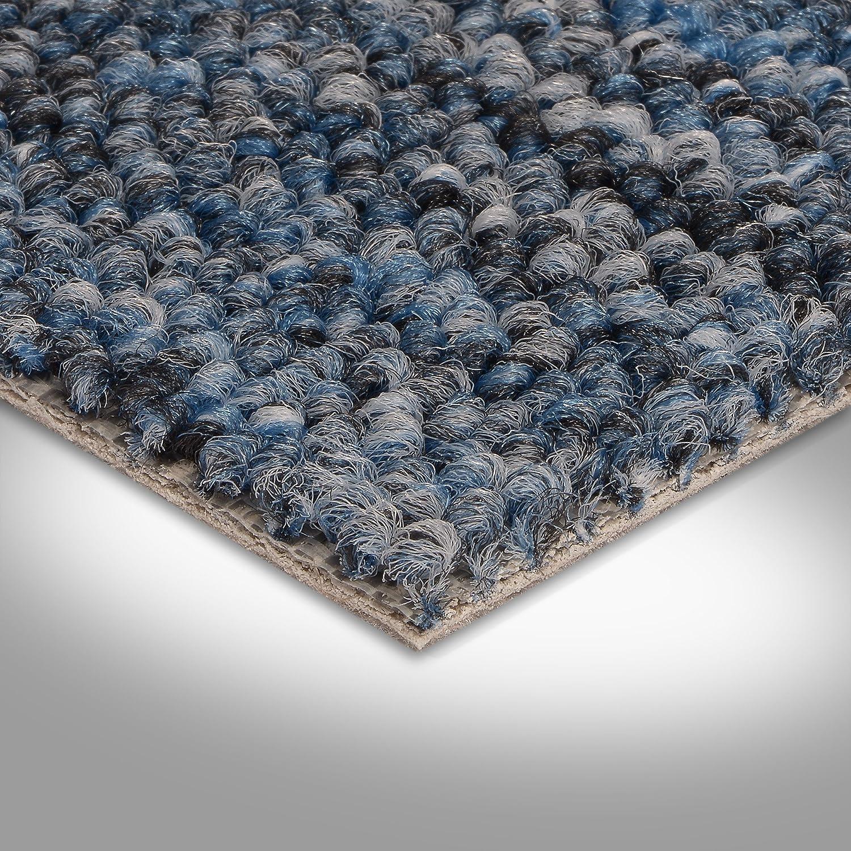 verschiedene L/ängen Teppichboden Auslegware Meterware Schlinge blau 400 und 500 cm breit