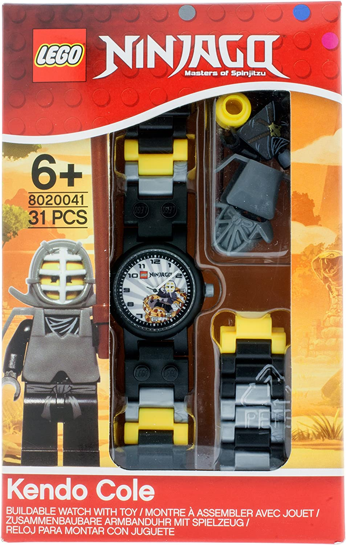 LEGO Ninjago Kendo Cole Minifigure Children's Quartz Watch with Grey Dial  Analogue Display and Multicolour Plastic Link Strap 9004940: Amazon.de:  Uhren