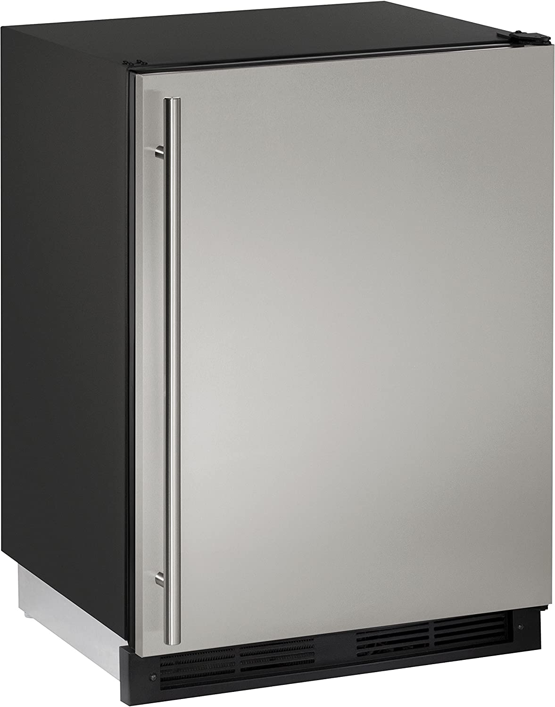 U-Line U1224RS00B 5.2 cu. ft. Compact Refrigerator, Stainless Steel
